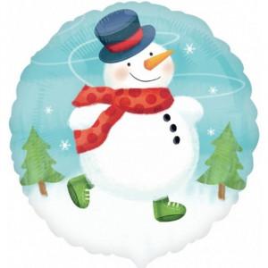 "Шар ""Снеговик с шарфом"" 46 см"