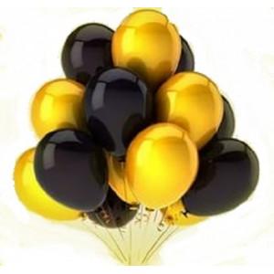 Облако черно-золотых шариков