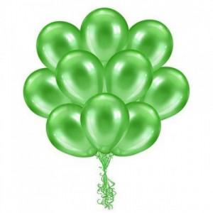 Облако зеленых шариков металлик